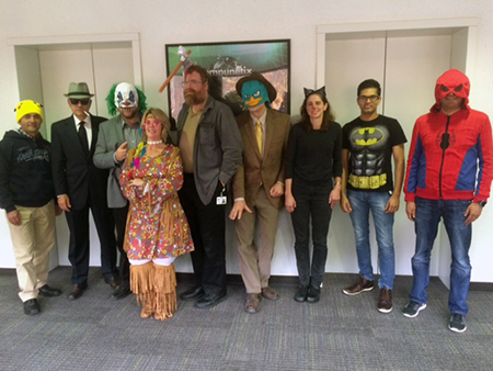 The CSD Staff dresses up for halloween