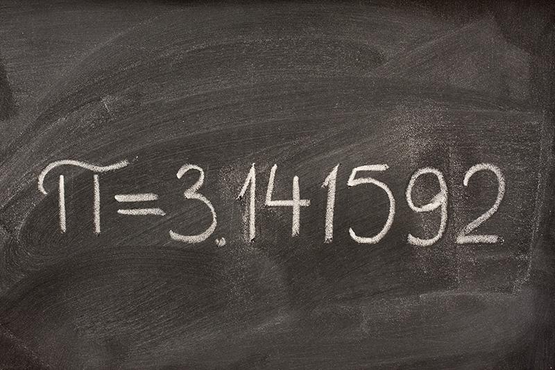 Pi on Chalkboard