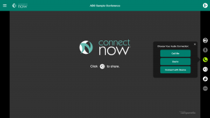 ConnectNow - Choose Audio Connection
